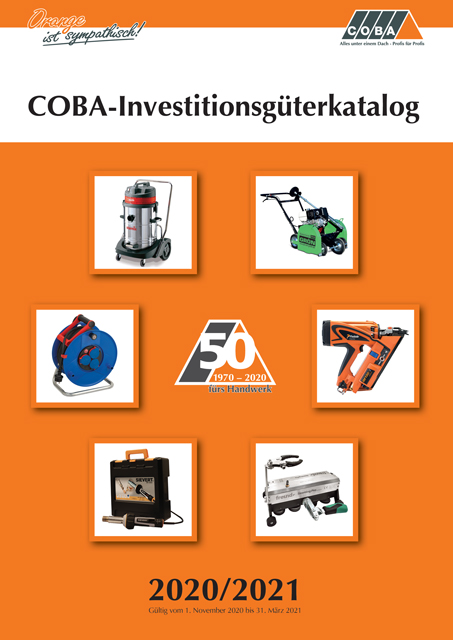 COBA-Investitionsgüterkatalog 2020/2021