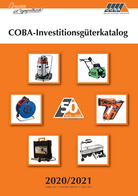 COBA-Investitionsgüterkatalog 2020/2021