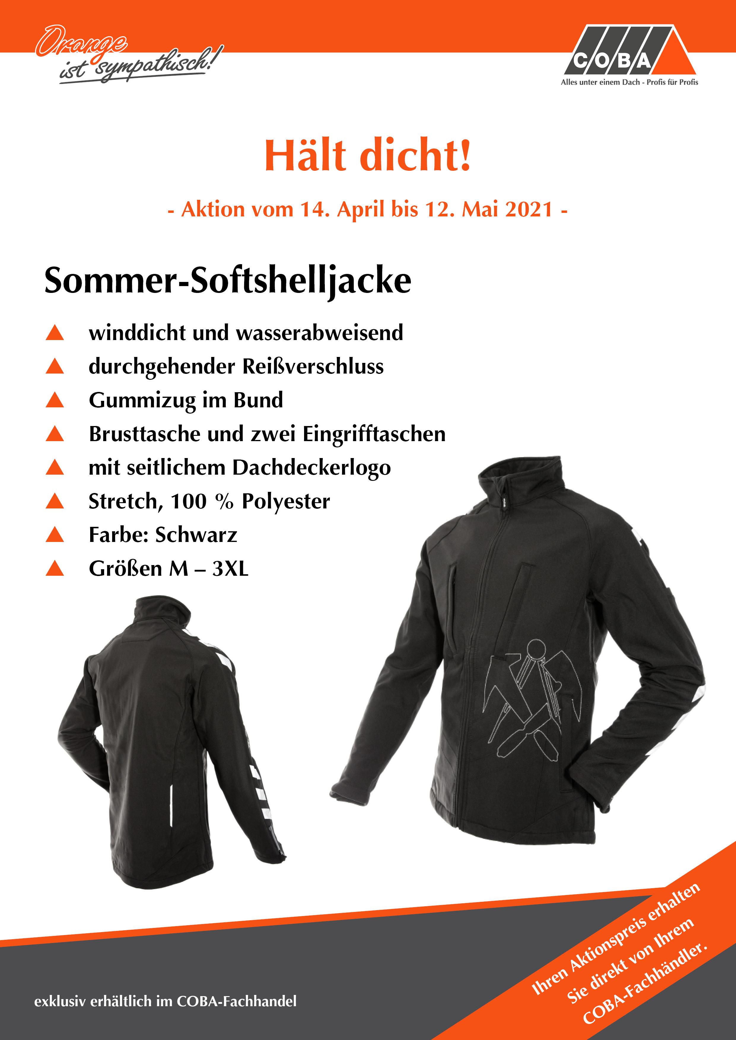 Sommer-Softshelljacke im COBA-Fachhandel zum Aktionspreis!
