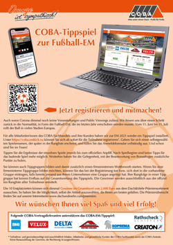 Flyer zum COBA-EM-Tippspiel 2021