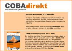 Einführung des ersten Kunden-Newsletters COBAdirekt