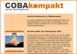 2009 erscheint der erste Newsletter COBAkompakt