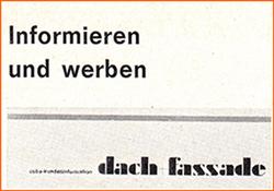 """Kundenzeitung """"dach + fassade"""""""