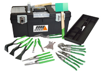 Klempnerkoffer mit Werkzeug